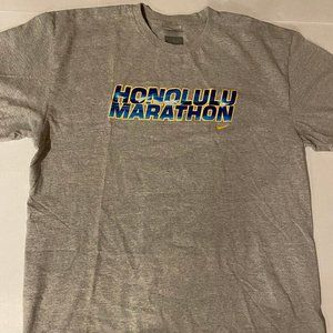 Vintage Nike Honolulu Marathon Shirt - Grey Tag